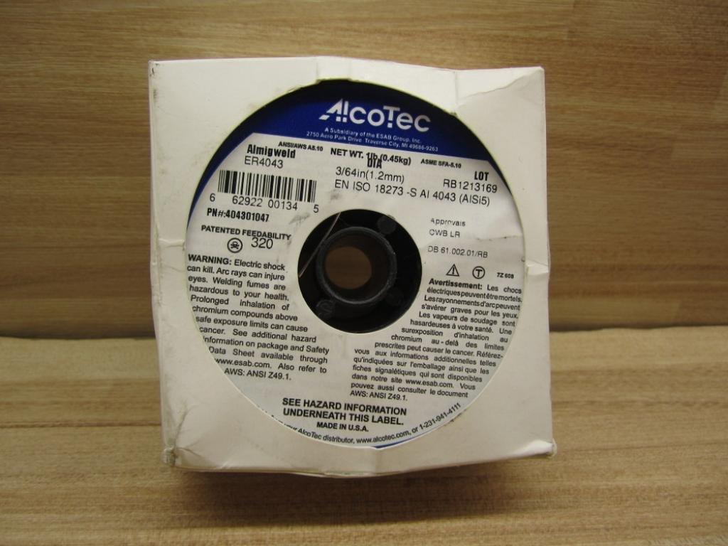 AlcoTec ER4043 Aluminum Wire 3/64 1.2mm 404301047