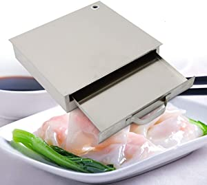 1-Layer Stainless Steel Rice Roll Steamer Machine Food Steaming Machine Steamer Tray Home Kitchen Tool (US Stock)