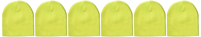 Clementine Apparel Mens Clm-al-8131-knit Beanie 6 Pk
