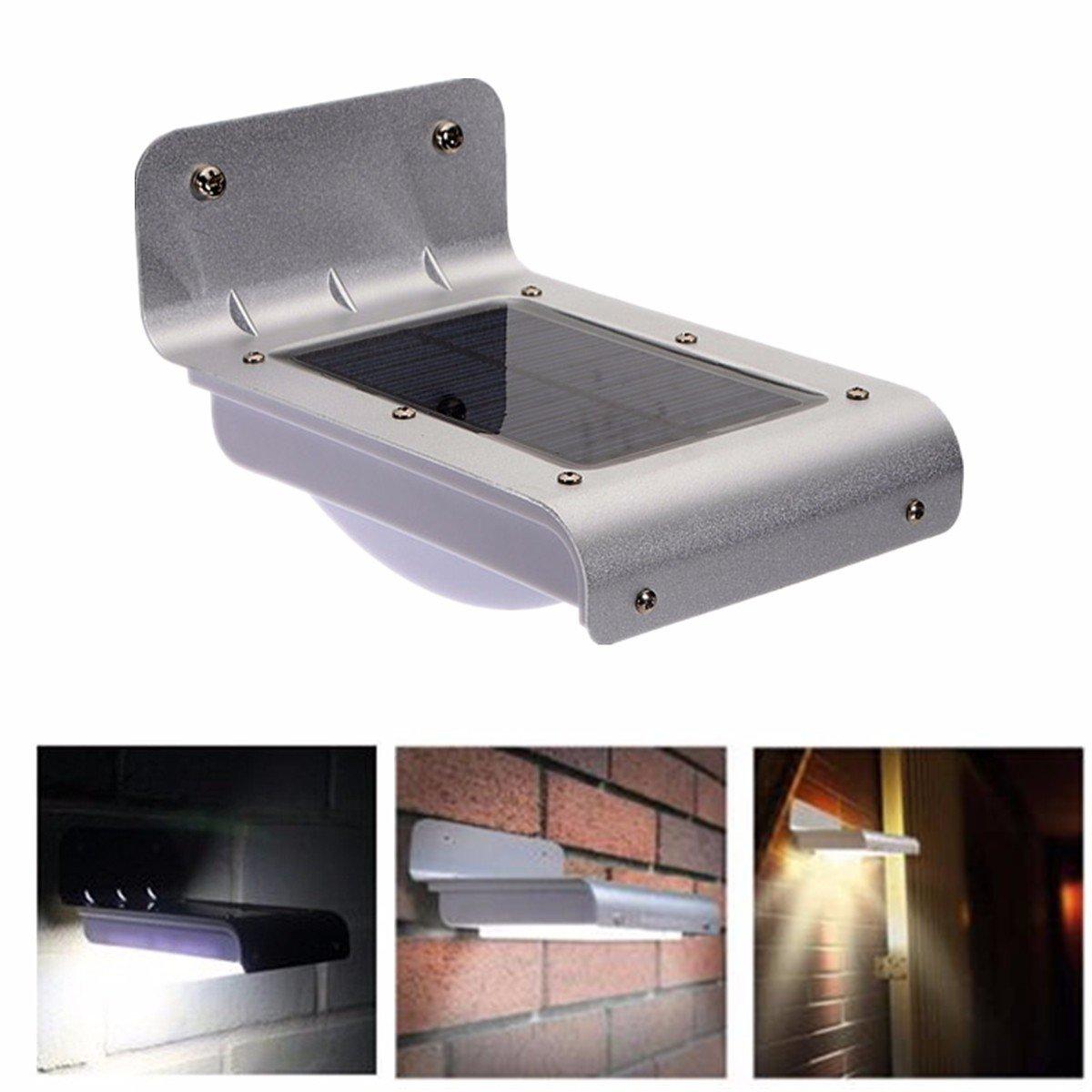 jiguoor Panel Solar 16 LED luz al aire libre con sensor de ...