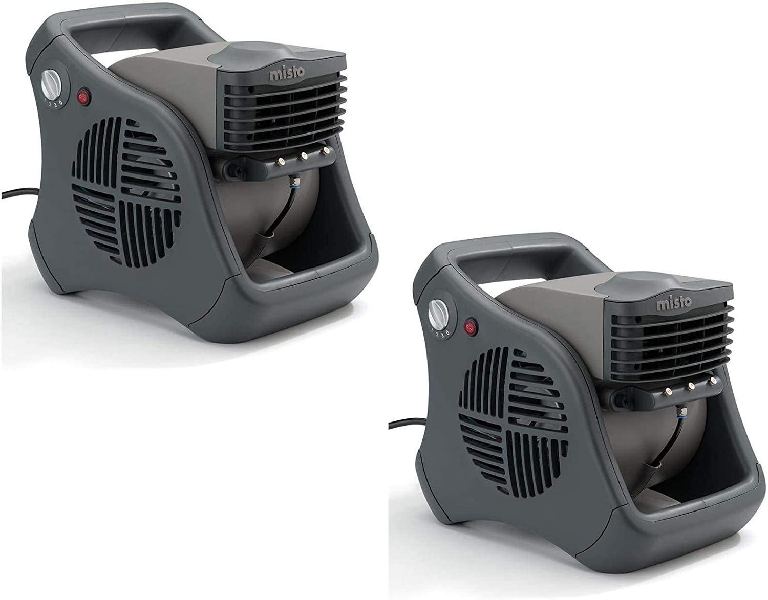 Lasko Misto Outdoor Patio Mister Portable Cooling Water Misting Fan (2 Pack)