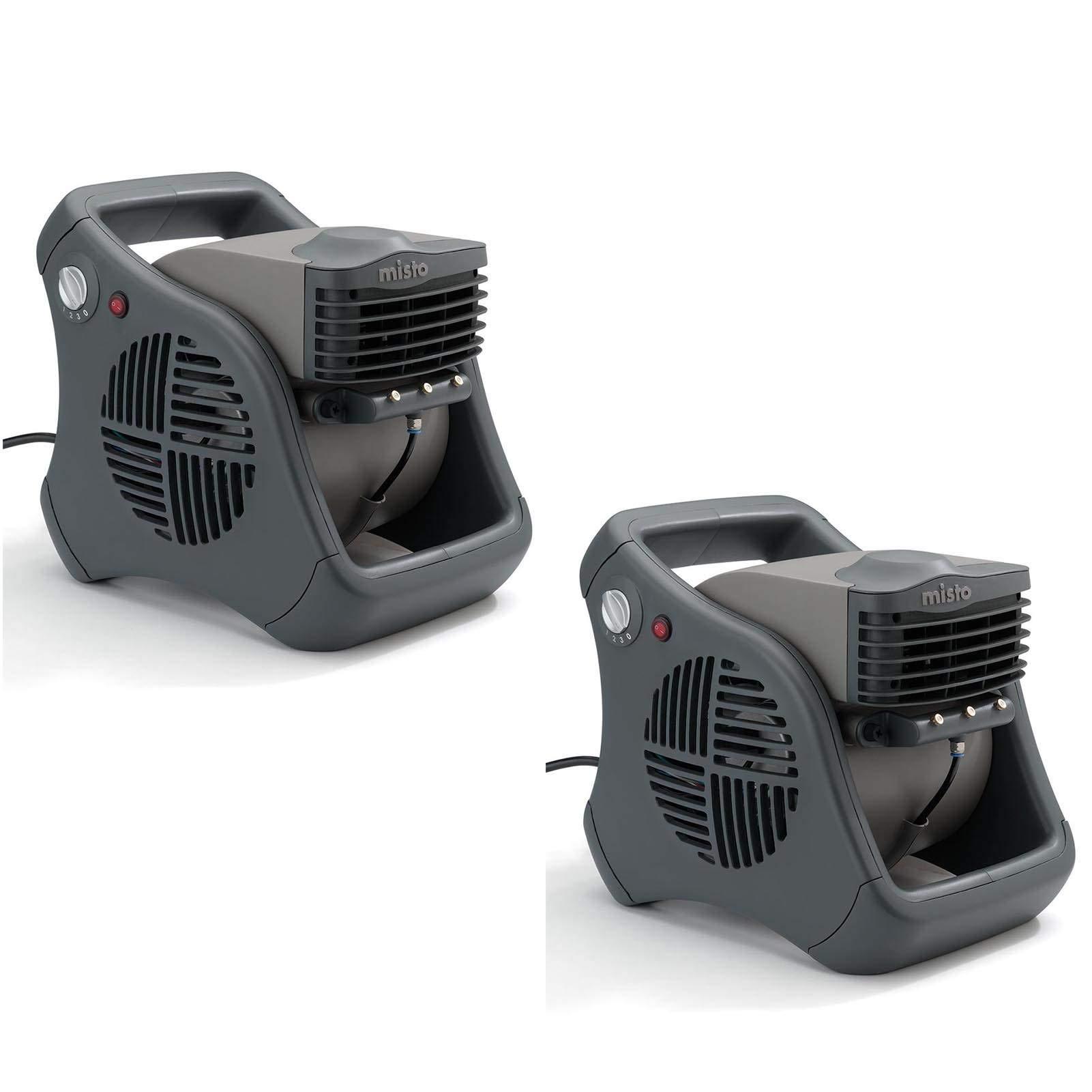 Lasko Misto Outdoor Patio Mister Portable Cooling Water Misting Fan (2 Pack) by Lasko