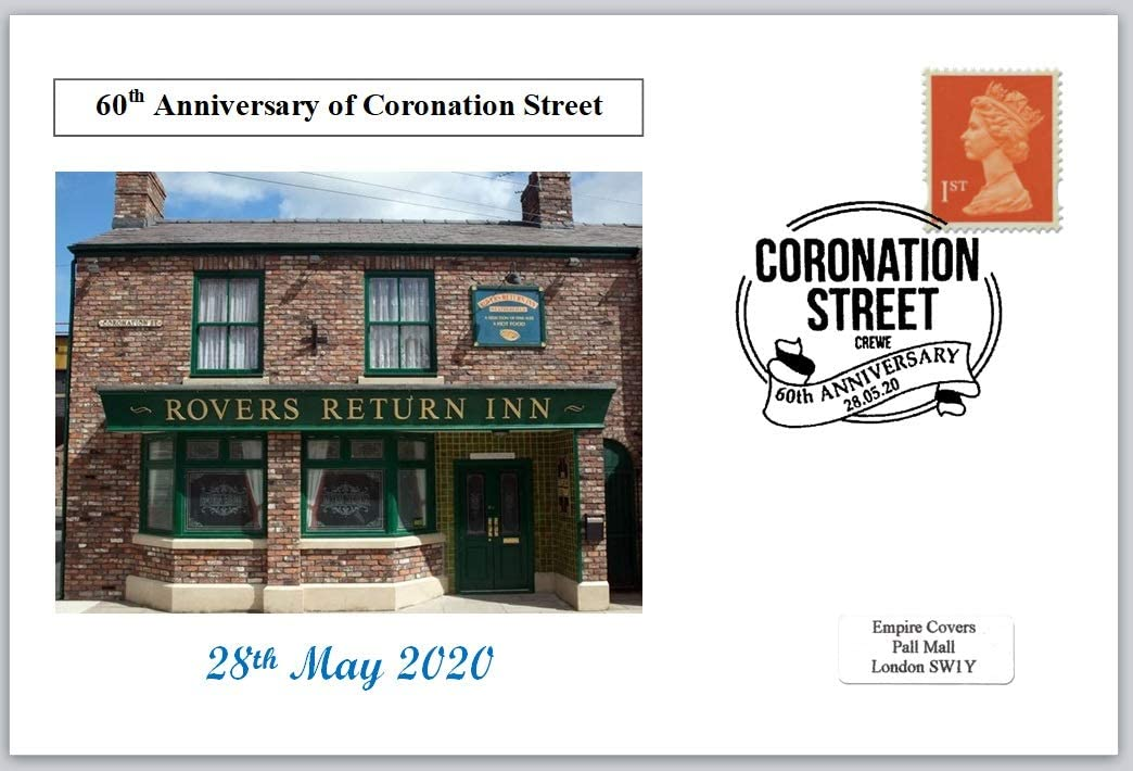 2020 60th Anniversary Coronation Street Television soap Alcohol Drink privately Produced Postal Card 150 x 100mm Superb Used JandR Stamps 410047
