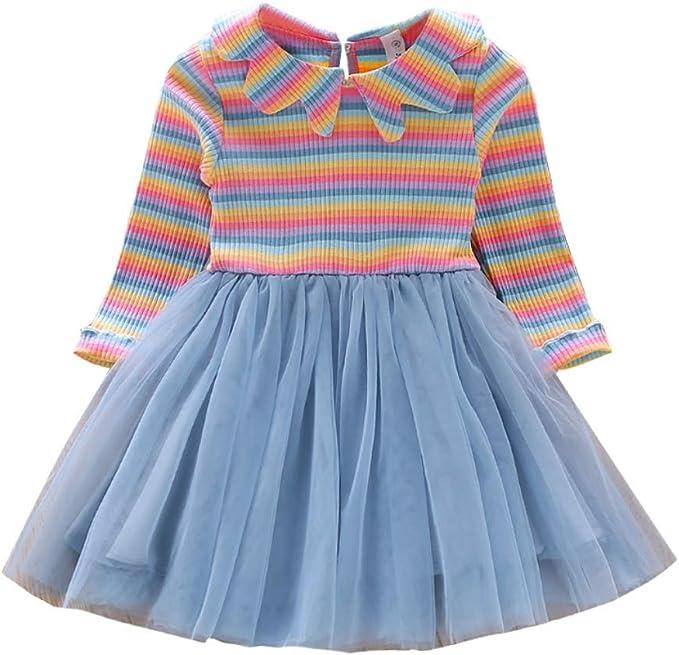 Miyanuby Vestido de Suéter para Niña Estampado de Patrón de ...