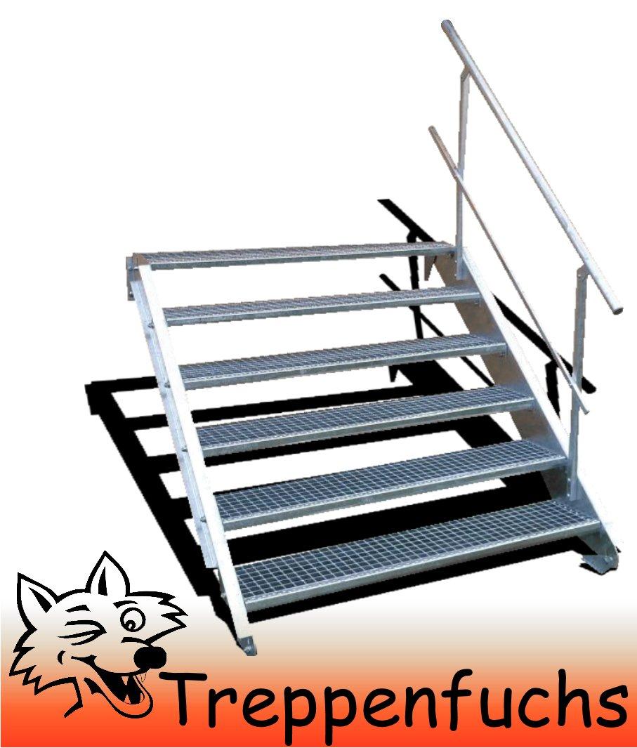 6 Stufen / 150cm breit / Höhe 90 - 120cm