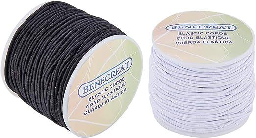 Cordón de tejido elástico Benecreat de 2 mm de grosor. 2 rollos ...
