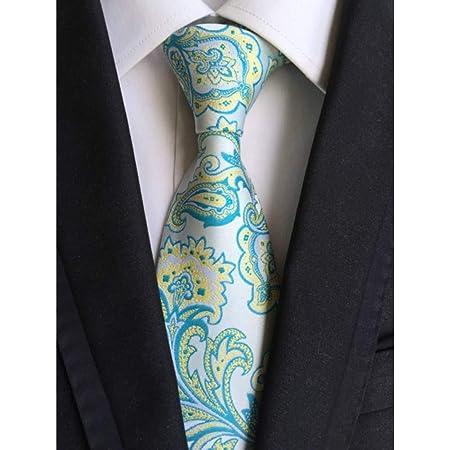 AK Corbata de corbata a cuadros de seda clásica para hombre,3 ...