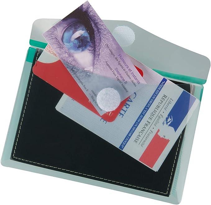 Tarifold  510289 Enveloppe porte documents fermeture scratch A6 T Collection en PP 20//100e Transparent Sachet de 6
