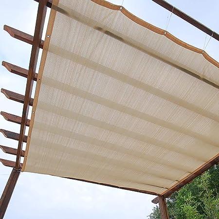 Malla de Sombra Paño De Protección Solar Beige, Cubierta De Malla De Jardín 90% Resistente A Los Rayos UV para Piscina De Pérgola, Instalaciones Al Aire Libre Y Actividades (Size : 1x2M):