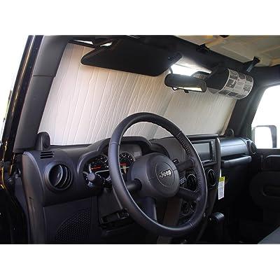 HeatShield, The Original Windshield Sun Shade, Custom-Fit for Jeep Wrangler SUV 2007-2020, Silver Series: Automotive