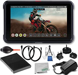 Atomos Ninja V 4Kp60 10bit HDR Daylight Viewable 1000nit Portable Monitor/Recorder Starters Bundle