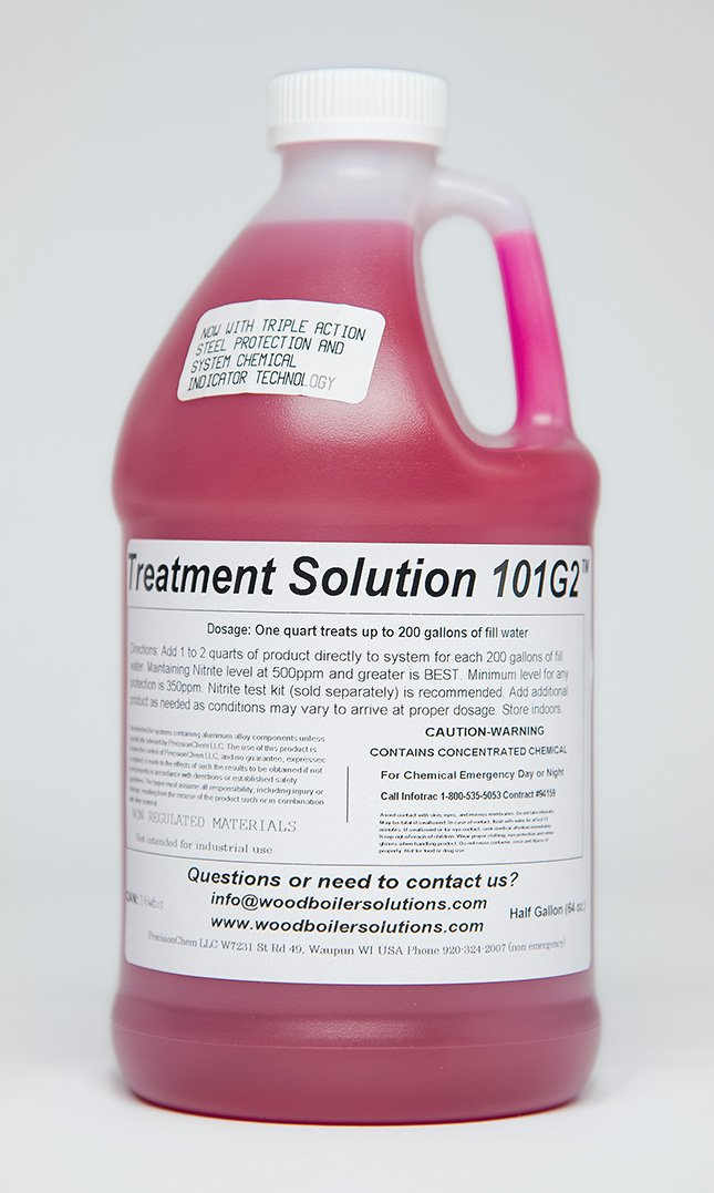 Outdoor Boiler Stove Anti-Corrosion Chemical Treatment 101 [1/2 Gallon] by Wood Boiler Solutions