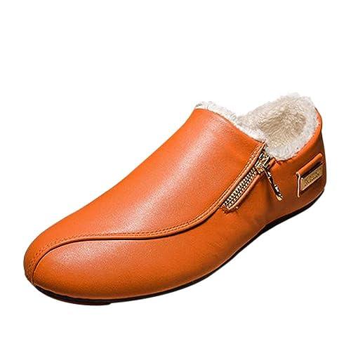Deylaying Moda Zapatos Sin Cordones de Cuero Hombre Mocasines Calzado Plano: Amazon.es: Zapatos y complementos