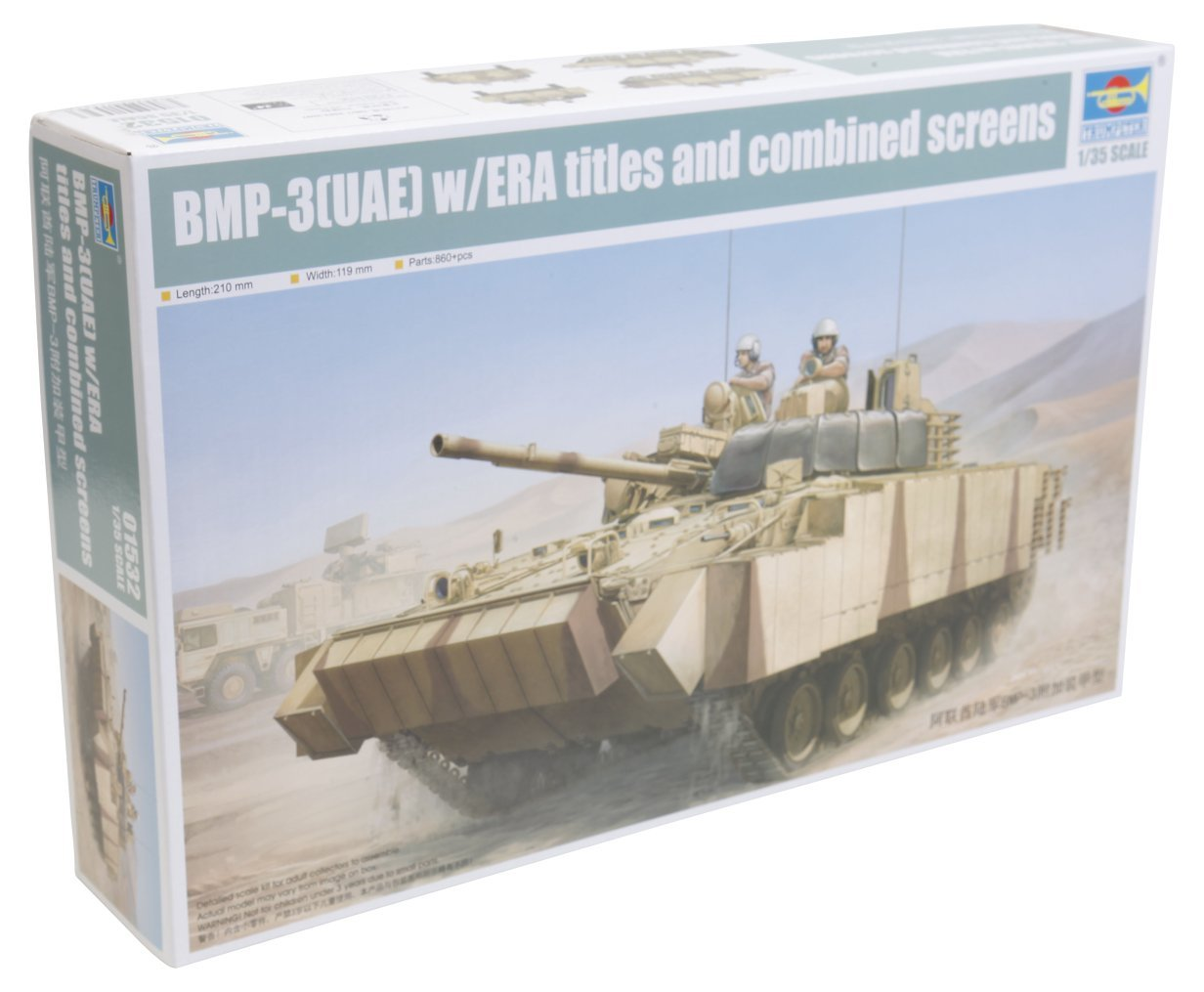 Trumpeter BMP-3 (UAE) with ERA Titles and Combined Screens Model Kit (1:35 Scale)