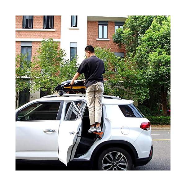 61FRp%2BXDmEL PHATRIP Auto Türstufe Klappbare Autotür Pedal Klappleiter für Autos Unkompliziert aufs Dach Zu Kommen Universal Doorstep…