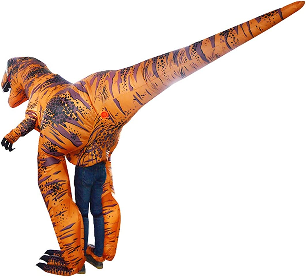 SIREN SUE Inflatable Dinosaur Costume Costume Riding in a Dinosaur Inflatable Fancy Dress Blow Up Costumes Adult