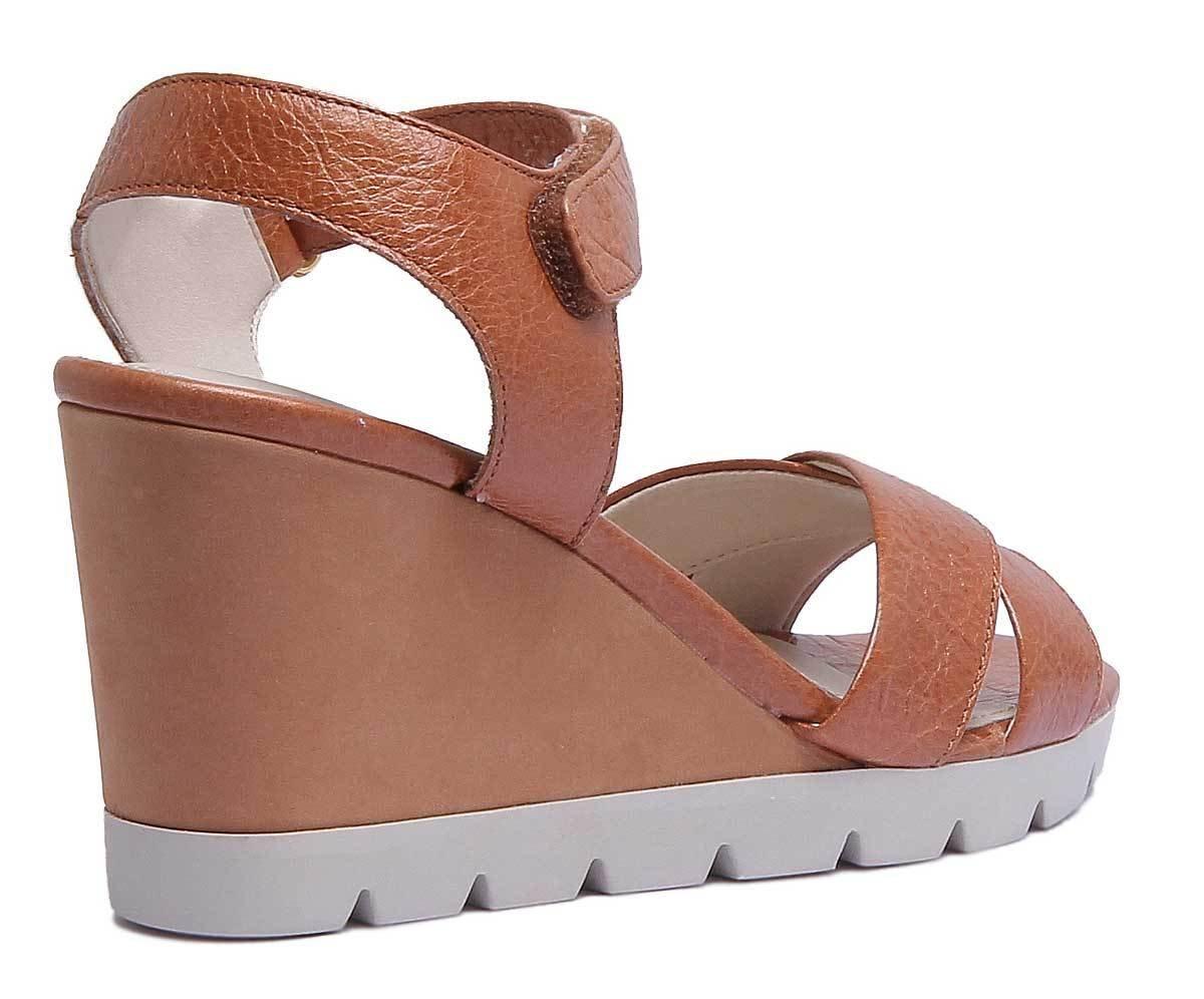 The FLEXX Lot Off Womens Golden Tan Leather Matt Sandal B07DPPV7D8 9.5 B(M) US|Cognac