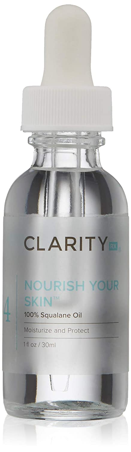 ClarityRx Nourish Your Skin 100% Squalane Additive Oil - Quick Absorbing Hydrating Facial Oil for Dry Skin, Wrinkles and Fine Lines