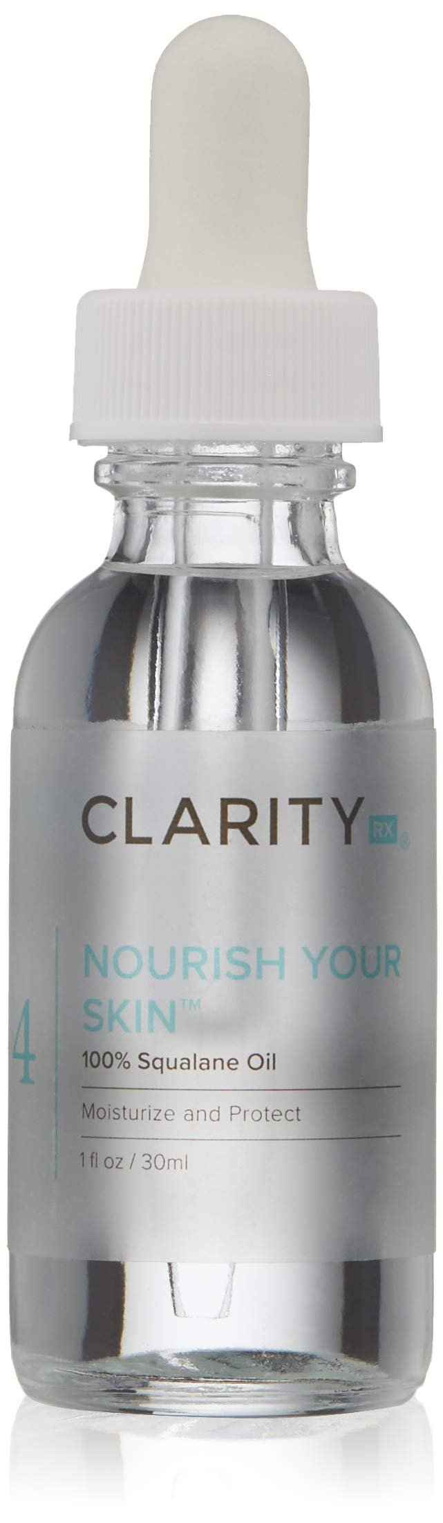 ClarityRx Nourish Your Skin 100% Squalane Additive Oil, 1 Fl Oz (packaging may vary)