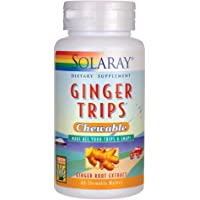 Ginger Trips Chewable 67mg Solaray 60 Chewable