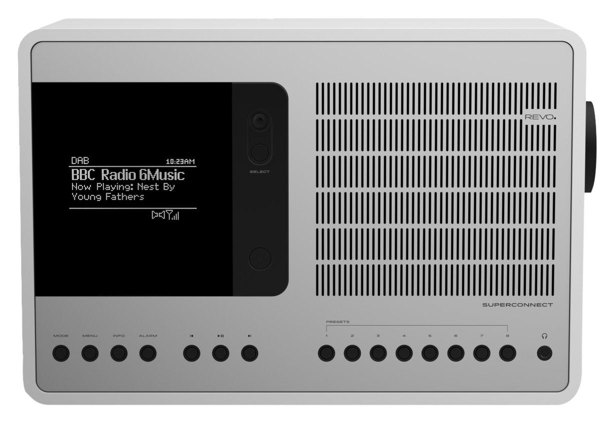 Revo SuperConnect Multi-Format Deluxe Radio - Satin White/Silver