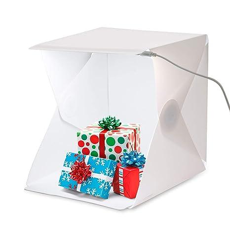 amzdeal – Kit de Caja de luz Estudio fotográfico portátil Tienda de campaña Plegable fotografía Estudio