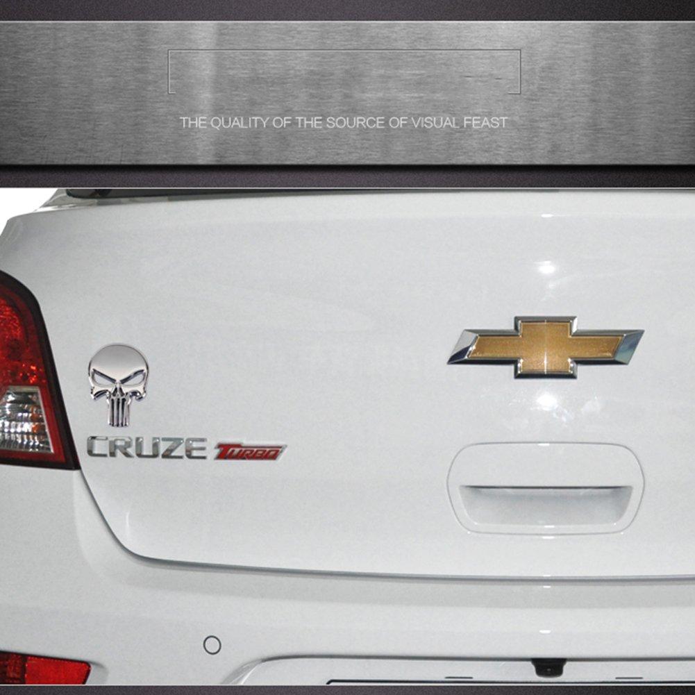 Pegatina de vinilo metalizada 3D de calavera de «Punisher», de Hong 111, para coche, moto, vehículo: Amazon.es: Coche y moto