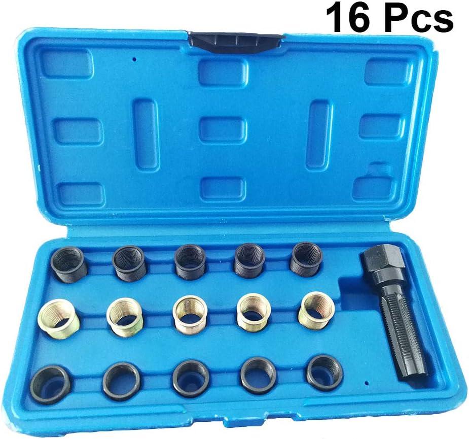 Vosarea Spark Plug Kit de renfilement al/ésoir tarauder la r/éparation de filetage M14x1.25 culasse Helicoil 16pcs 14mm