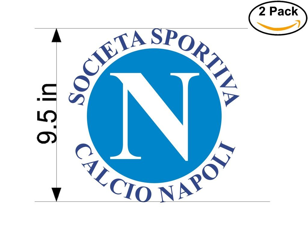 Calcio Napoli Italy Soccer Football Club FC 2 Stickers Car Bumper Window Sticker Decal Huge 9.5 inches by CanvasByLam