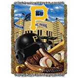 """The Northwest Company MLB Pittsburgh Pirates Home Field Advantage Woven Tapestry Throw, 48"""" x 60"""