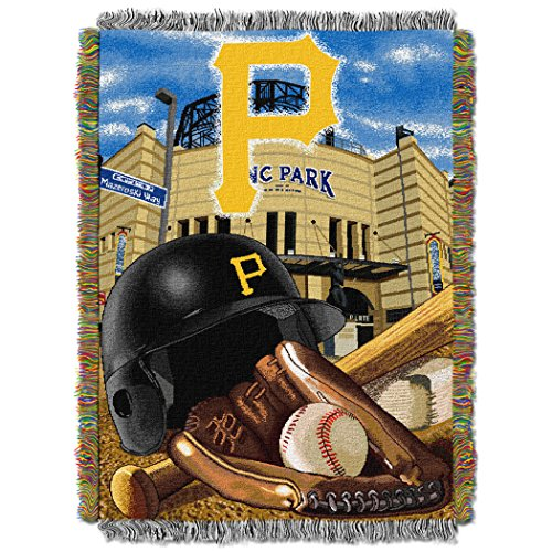 The Northwest Company MLB Pittsburgh Pirates Home Field Advantage Woven Tapestry Throw, 48