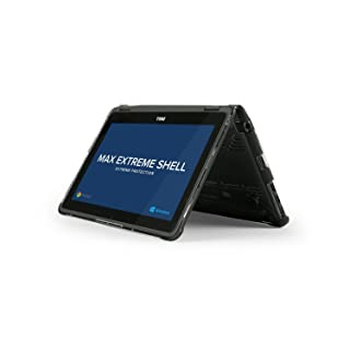 MAX Cases Extreme Shell for Dell Chromebook 3189 2 in 1 11 inch Convertible Cover & Dell Latitude 3189 2 in 1 Convertible 11 inch (Windows), Shock & Impact Protection Case - Black (Check Model #)
