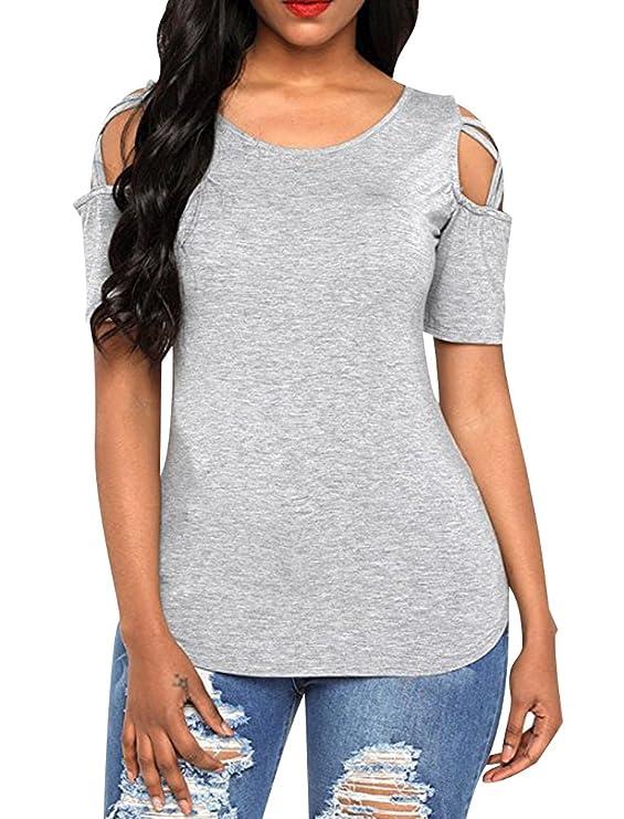 Camisetas Oversize Mujer Camiseta Chica Camisas Manga Corta Mujer Blusas Anchas Verano Playeras Asimetricas Anchas Señora Top Basica Blusa Tops Camisa ...