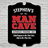 HomeWetBar Personnel Only Man Cave Personalized Sign (Customizable Product)