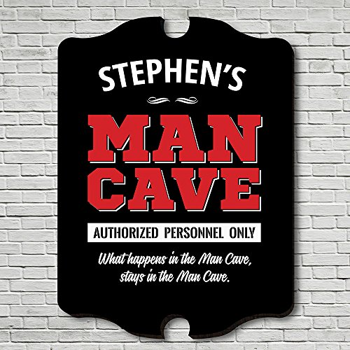 Cheap HomeWetBar Personnel Only Man Cave Personalized Sign (Customizable Product)