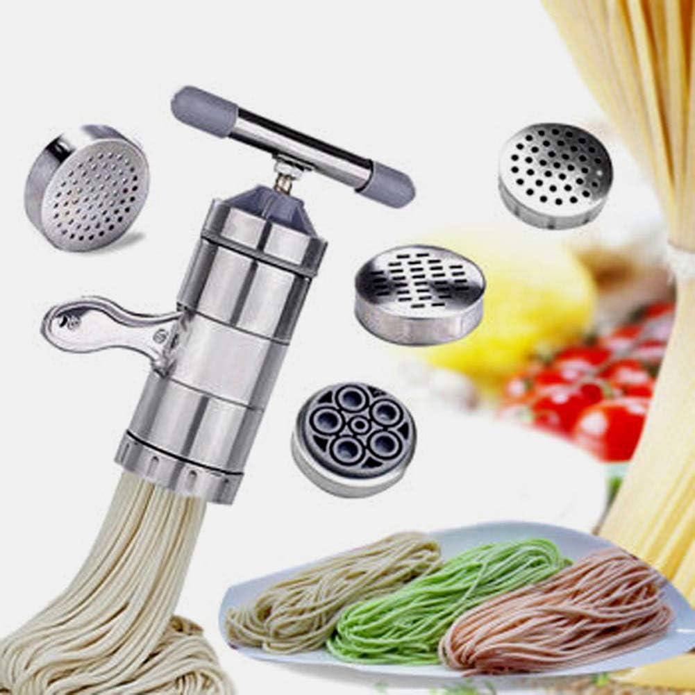 Pasta Cvian Manuelle Nudelmaschine aus Edelstahl f/ür den Haushalt Edelstahl silber Nudelmaschine