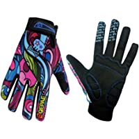 QEPAE Breathable Cycling Gloves Anti-Slip Full Finger Gel Gloves for Bicycle Riding Skiing