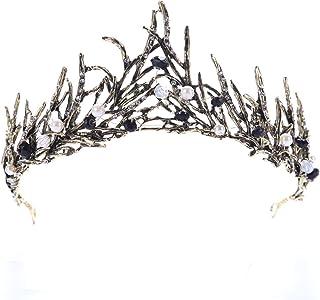 LUCHA nuziale strass accessori per capelli diademi argento corona fascia per matrimonio, party, spettacolo (oro)