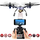 2.4GHz 6-Axis Gyro Wifi Real-time Transmission Drone with 2MP HD Camera 3D Flips High Hold Mode Headless Mode One Key Return RC Quadcopter