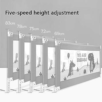 LIFE-Bed Rails Guardia de Cama Riel de Cama para bebés y niños pequeños (Color : Beige, Size : 150cm): Amazon.es: Hogar