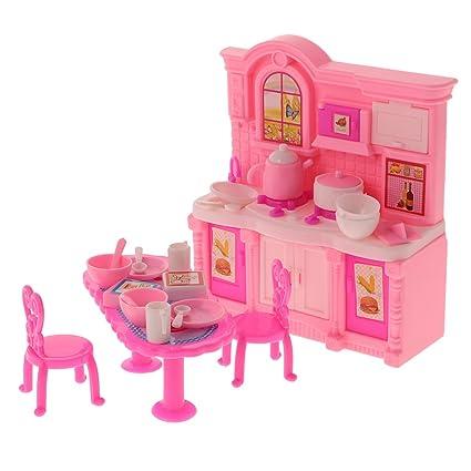 Amazon Com Monkeyjack 1 Set Of 16 Pieces Kids Toy Plastic Furniture