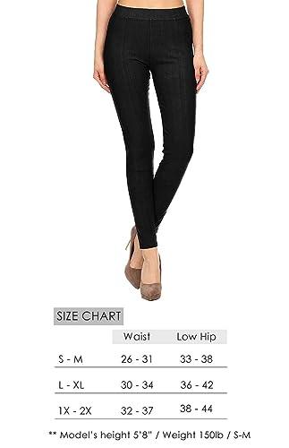1198ec9ba3c581 VIV Collection Jeggings Jean Leggings Pants w/Pockets Soft Cotton Blend  Regular and Plus at Amazon Women's Clothing store:
