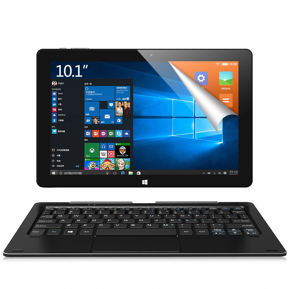 ALLDOCUBE iwork10 Ultimate 2-in-1 Tablet PC(Keyboard Included), Cube 10.1 inch 1920 x1200 IPS Screen Convertible Laptop (Win10 + Android 5.1, Intel Atom X5 Z8350 Quad Core, 4GB RAM,64GB ROM ), Black
