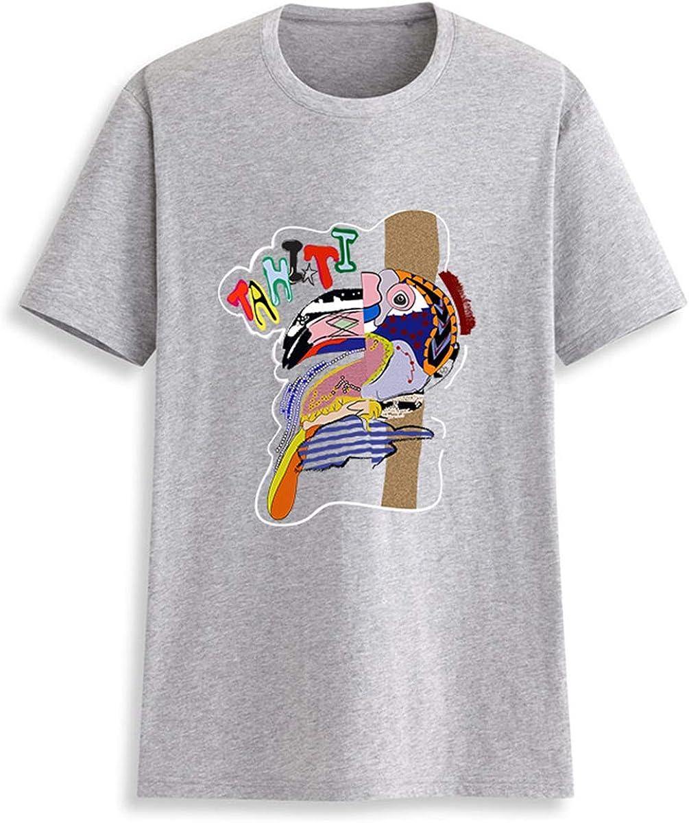 FRWJN Tahiti Camiseta con Estampado de Aves para Mujer Camiseta de Manga Corta de algodón con Cuello en O Camiseta Divertida: Amazon.es: Ropa y accesorios