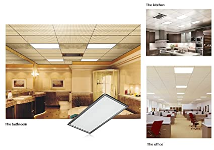 AGM LED Panel Light 24 X 48inch Square Recessed Bright Glare Free Lighting  For Office