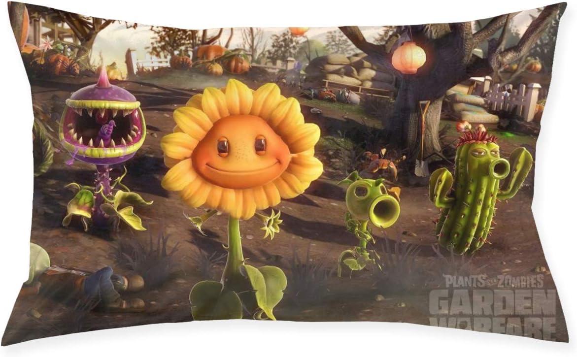 DwayneDennis Plants Vs Zombies Garden Warfare Premium Pillow Protector Standard Size Pillowcase Queen Size (20 X 30 Inches) Throw Pillow Case Hypoallergenic Bed Throw Pillows Pillowcase Covers