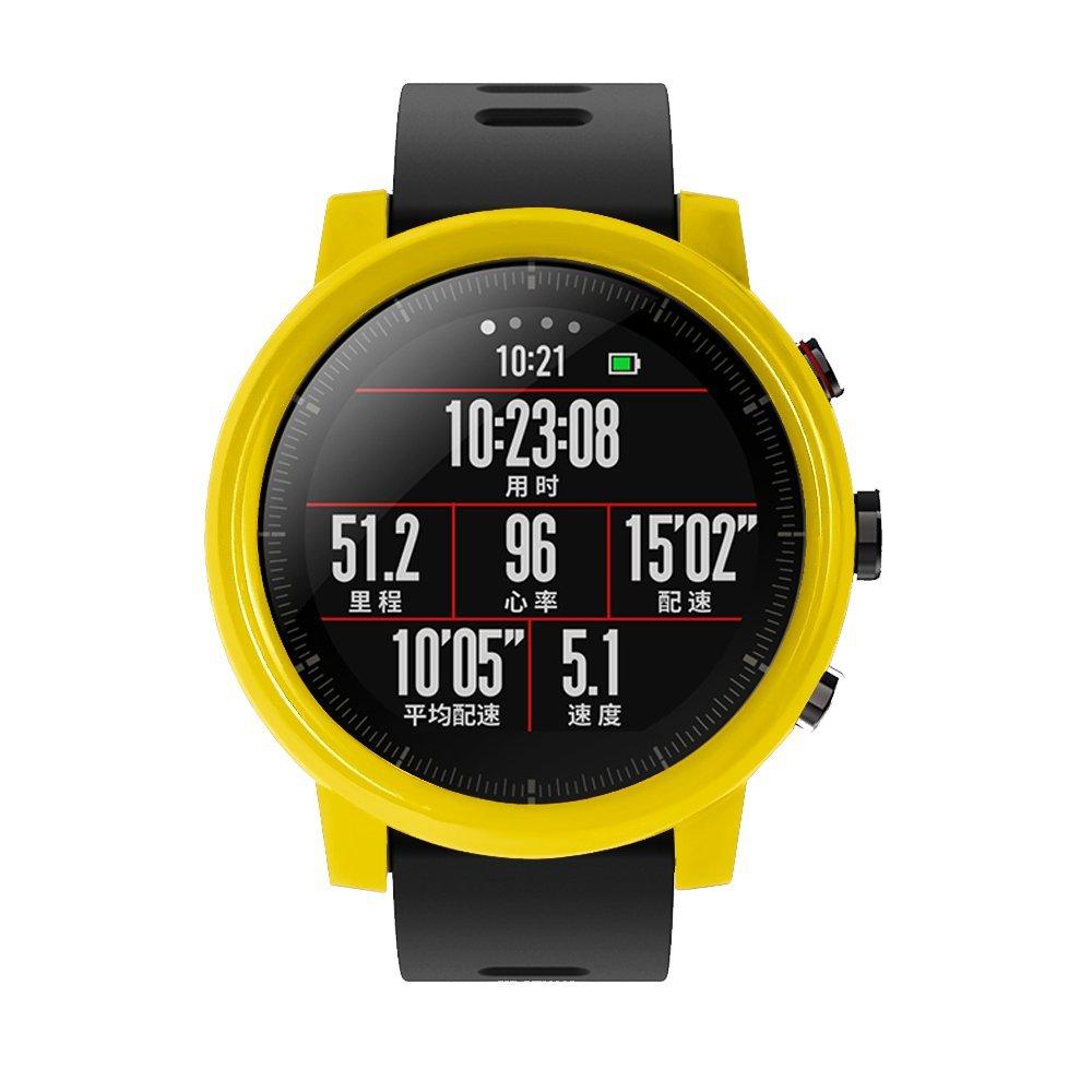 Saisiyiky Marco Caso Amazfit Sports Smartwatch Stratos 2 Cubierta Proteger Shell Protector Funda para Xiaomi Huami Reloj Carcasa
