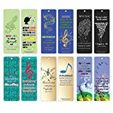 Creanoso Music Quotes Bookmarks Series 2 (60-Pack) – Inspiring Sayings for Musicians and Readers – Encouraging Musical Gift Essential Collection for Men Women Adults Teens Kids Guitarists - Wall Decor