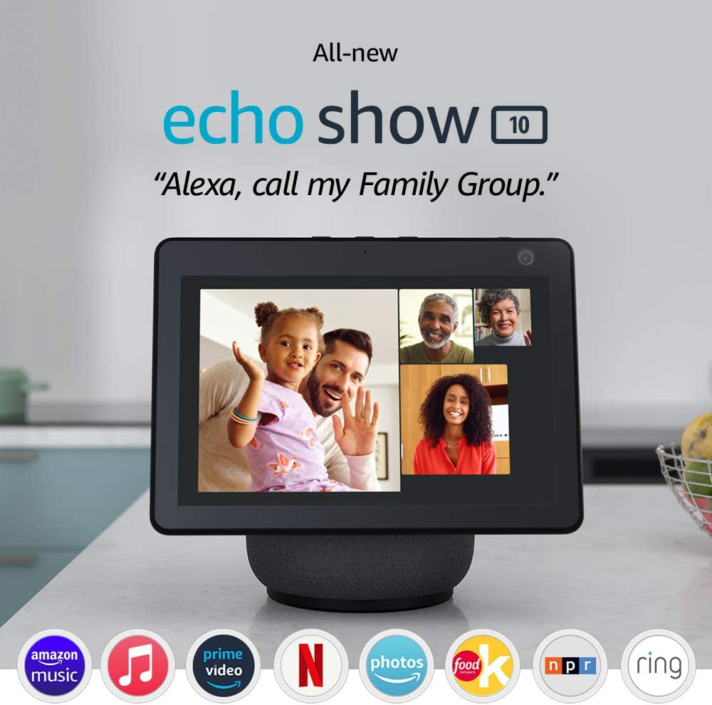 All-new Echo Show 10 (3rd Gen) Smart Display - Charcoal