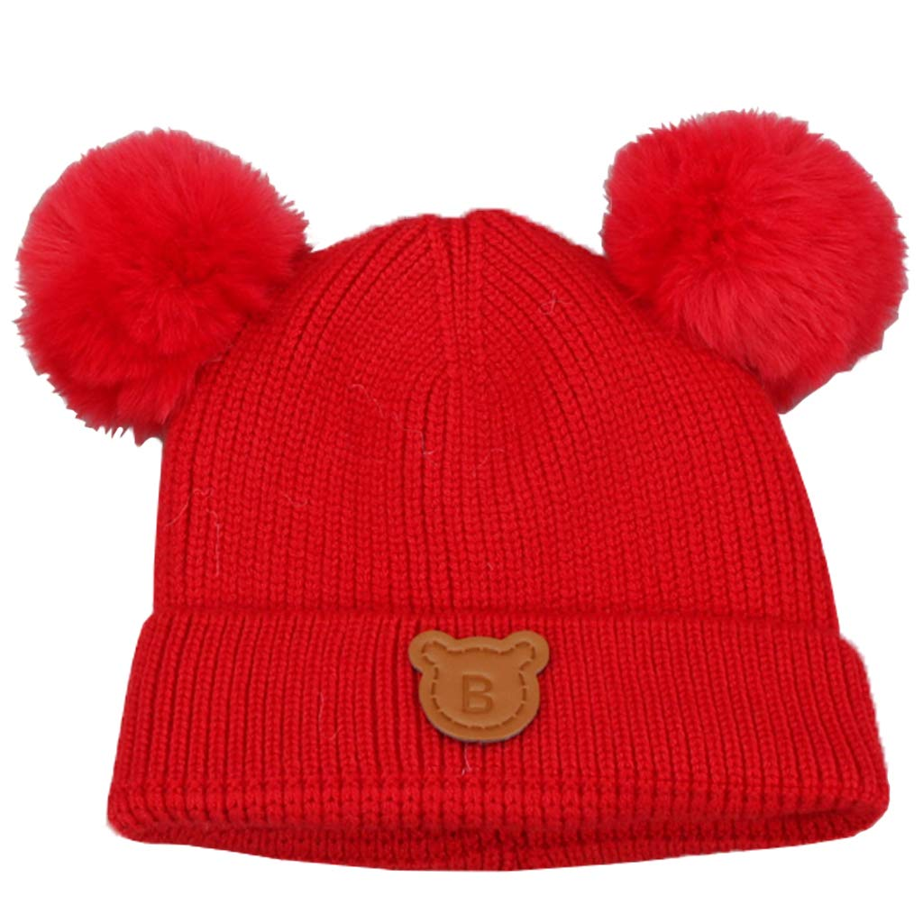 Gogokids Baby Boys Girls Bobble Beanie Hat Warm Winter Pompom Skull Cap Black SDW Trading Co. LTD